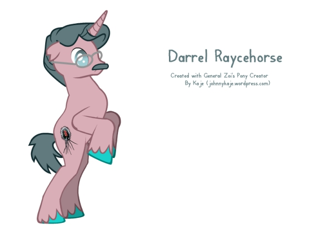 Darrel Ray in pony form
