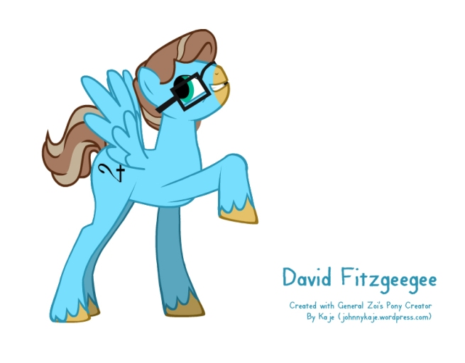 David Fitzgerald in pony form