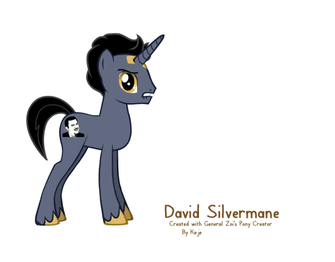 David Silverman in pony form