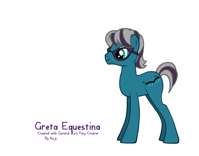 Greta Christina in pony form