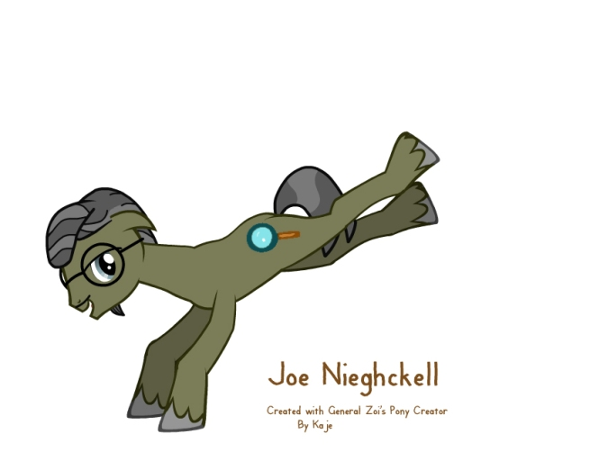 Joe Nickell in pony form