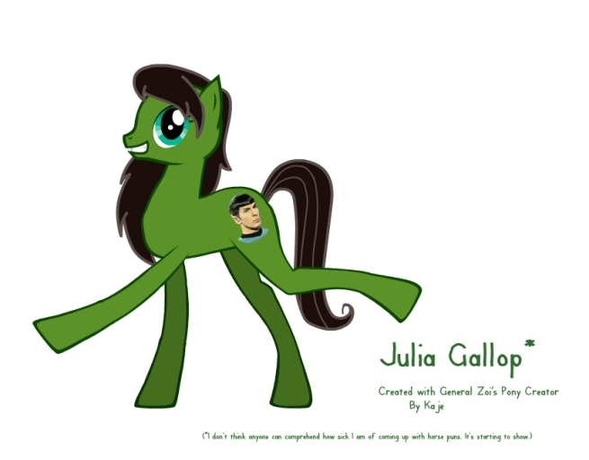 Julia Gaylef in pony form