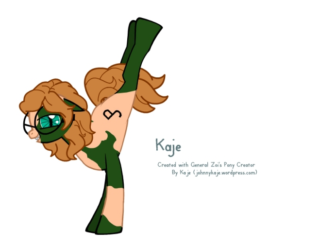 Kaje (me) in pony form