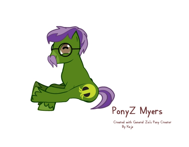PZ Myers in pony form